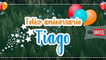 Feliz Aniversário Tiago - Mensagem Personalizada Com Nome Tiago Para Baixar!
