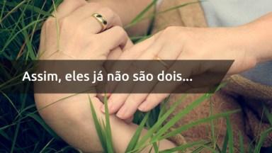 Frase De Amor Bíblica - Assim, Eles Já Não São Dois, Mas Sim Uma Só Carne (. . . )!