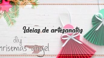 Ideias De Artesanatos Para O Natal, Vale A Pena Conferir E Aprender!
