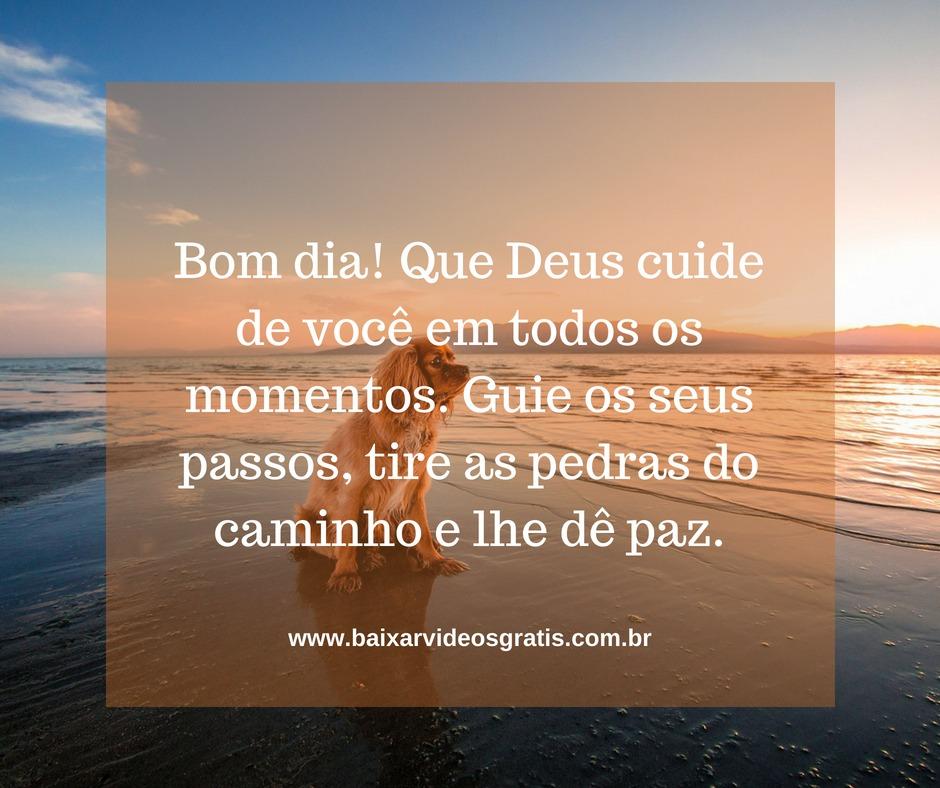 Mensagem de bom dia, que Deus cuide de você em todos os momentos