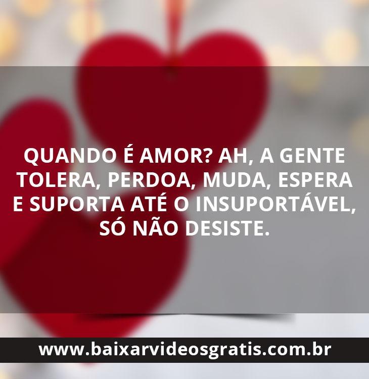 Mensagem de amor quando é amor
