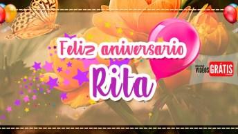 Mensagem De Aniversário Com Nome Rita, Personalizado E De Graça!