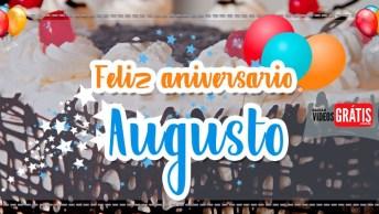 Mensagem De Aniversário Com Nomes Grátis - Parabéns Augusto!