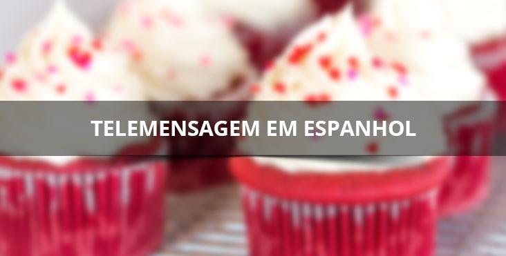 Telemensagem de feliz aniversario em espanhol