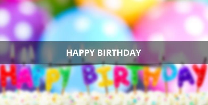 Mensagem de feliz aniversário em Inglês Happy Birthday