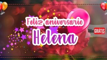 Mensagem De Aniversário Personalizado Com Nomes - Parabéns Helena!