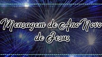 Mensagem De Ano Novo De Jesus. Desejo Que Você Tenha Um Abençoado Ano!