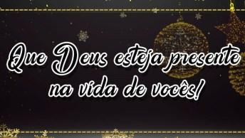 Mensagem De Ano Novo Para Amigos. Que Deus Esteja Presente Na Vida De Vocês!