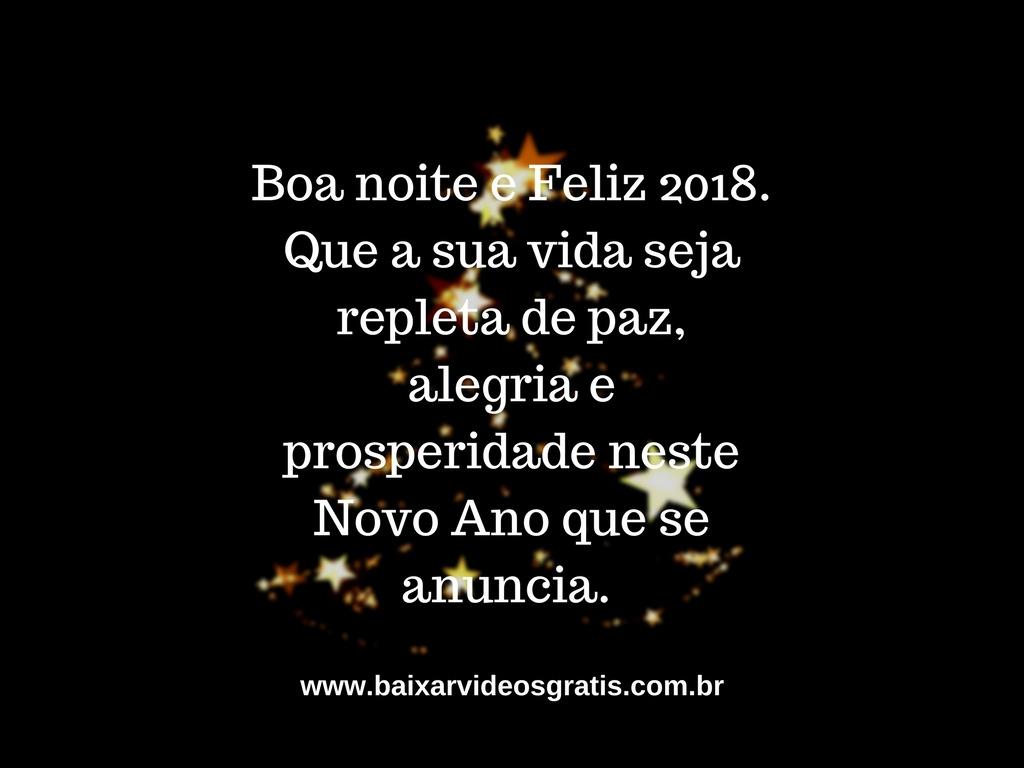 Mensagem de boa noite ótima para desejar Feliz Ano Novo para os amigos