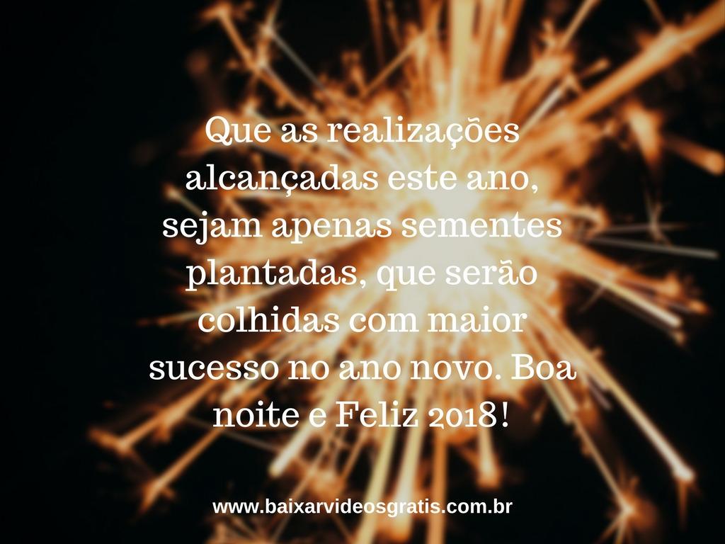 Mensagem de boa noite perfeita para desejar um Feliz Ano Novo para os amigos