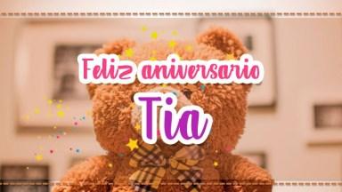 Mensagem De Feliz Aniversário Para Tia. Te Desejo Toda Felicidade Do Mundo!