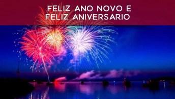 Mensagem De Feliz Ano Novo E Feliz Aniversário, Deus Abençoe Seu Dia!