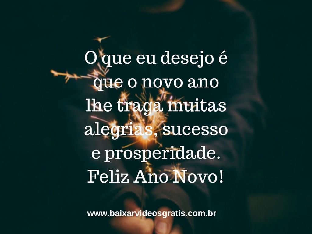 Mensagem de boa noite para Ano Novo, desejo que este ano traga muitas alegrias