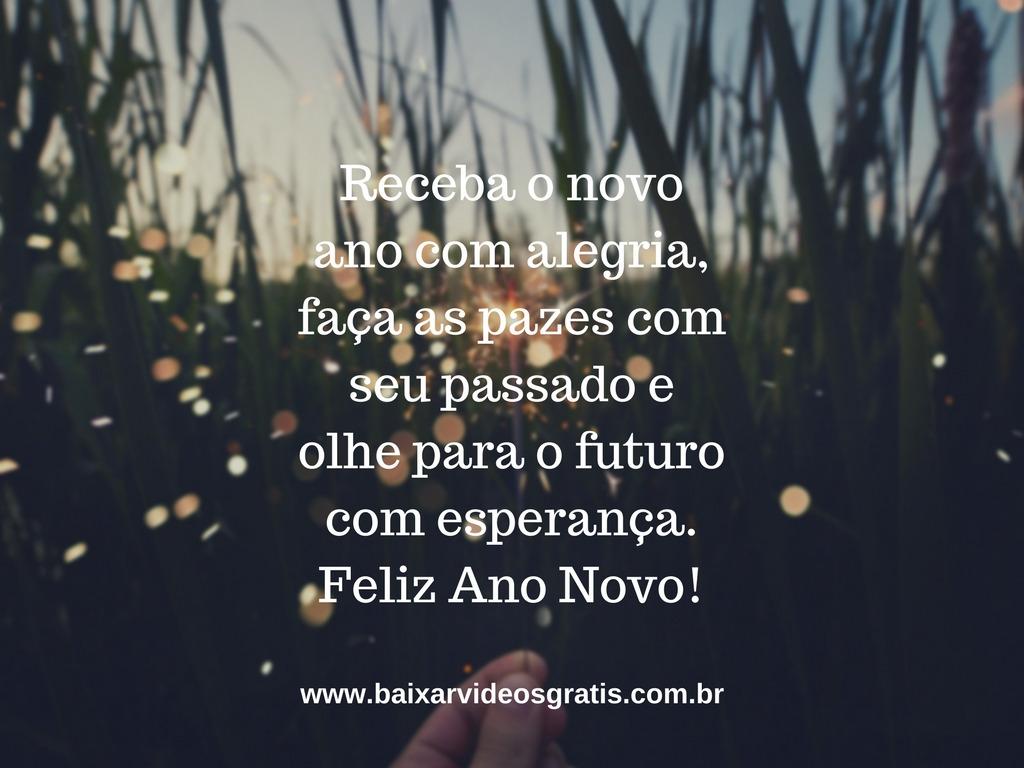 Imagem com frase linda de boa noite para Ano Novo, faça as pazes com o passado