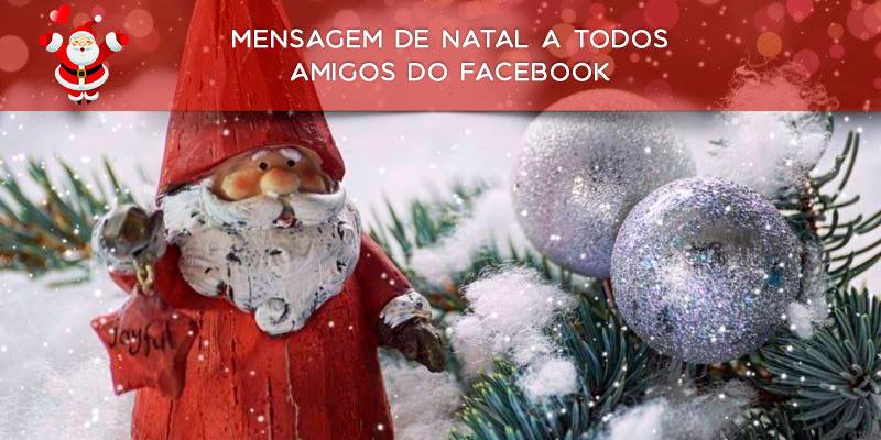 Mensagem De Natal A Todos Amigos Do Facebook Boas