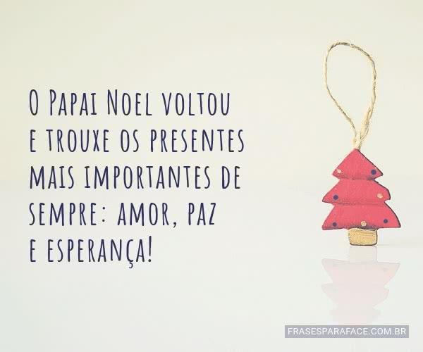 Mensagem bonita de feliz natal para encaminhar para os amigos
