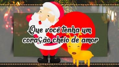 Mensagem De Natal. Que Você Tenha Um Coração Cheio De Amor!