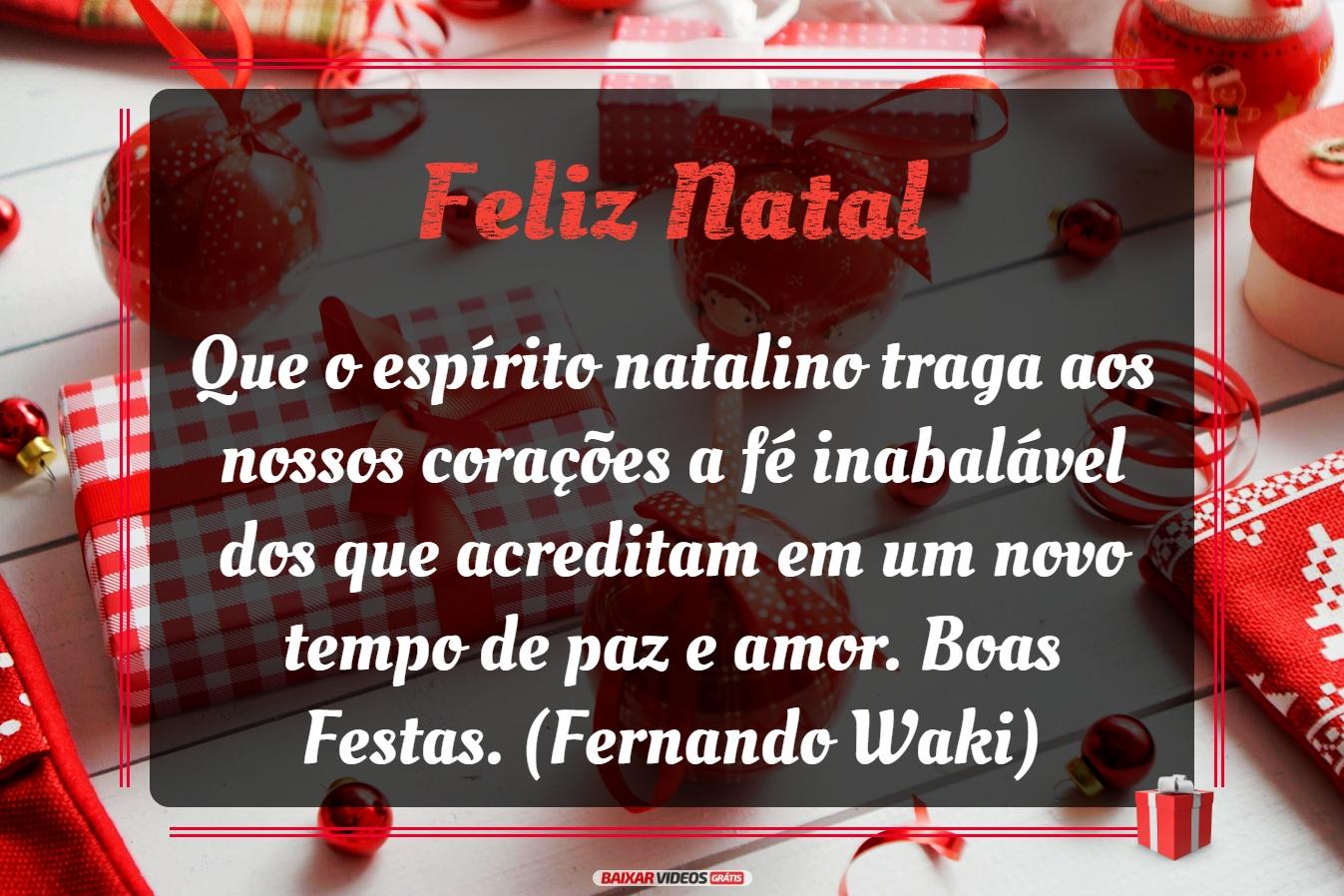 Natal com fé, paz e amor!