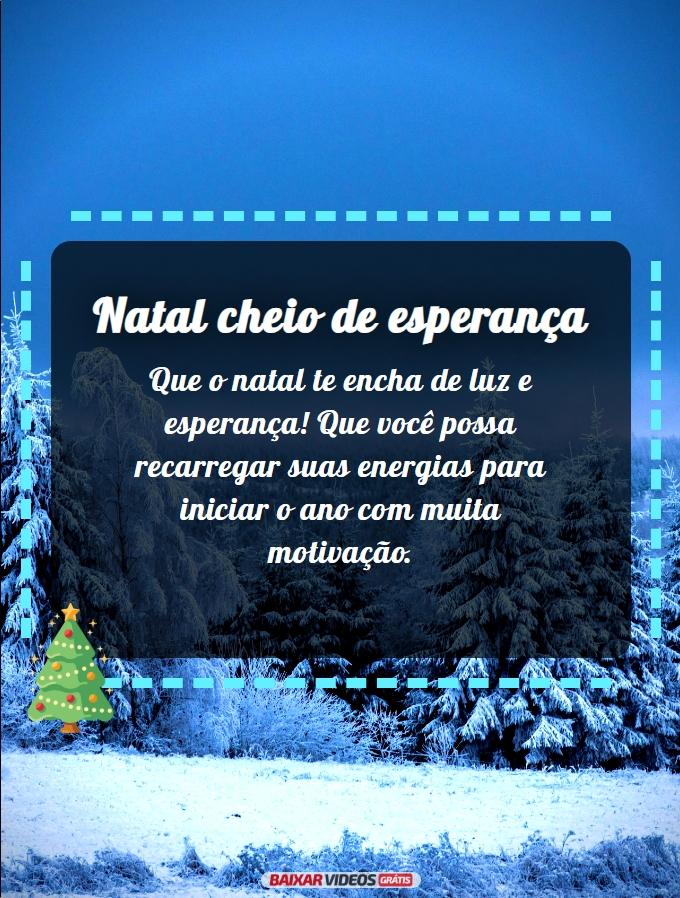 Natal cheio de esperança
