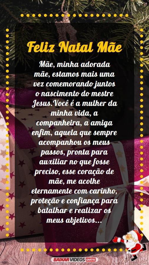 mensagem de Feliz Natal para mãe, você é a mulher da minha vida!!!!