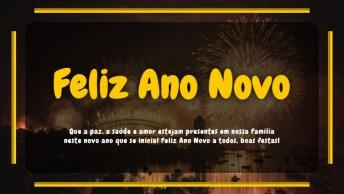Ano Novo Com Paz E Saúde