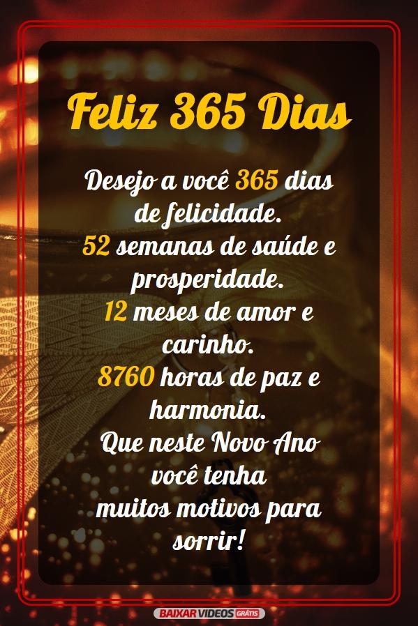 365 Dias de felicidade
