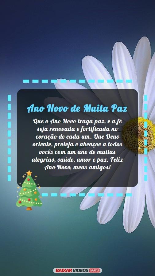 Ano Novo de muita paz