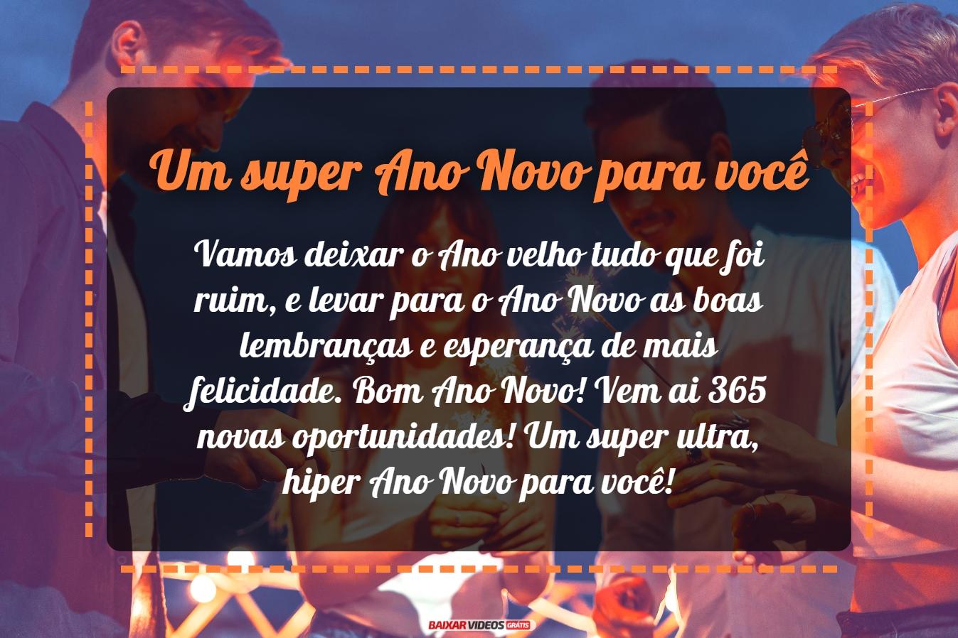 Um super Ano Novo para você
