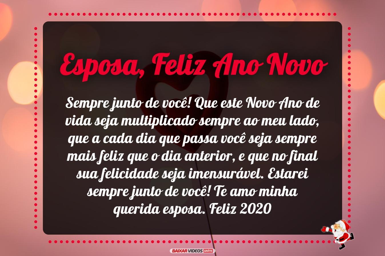Querida e amada esposa, Feliz Ano Novo