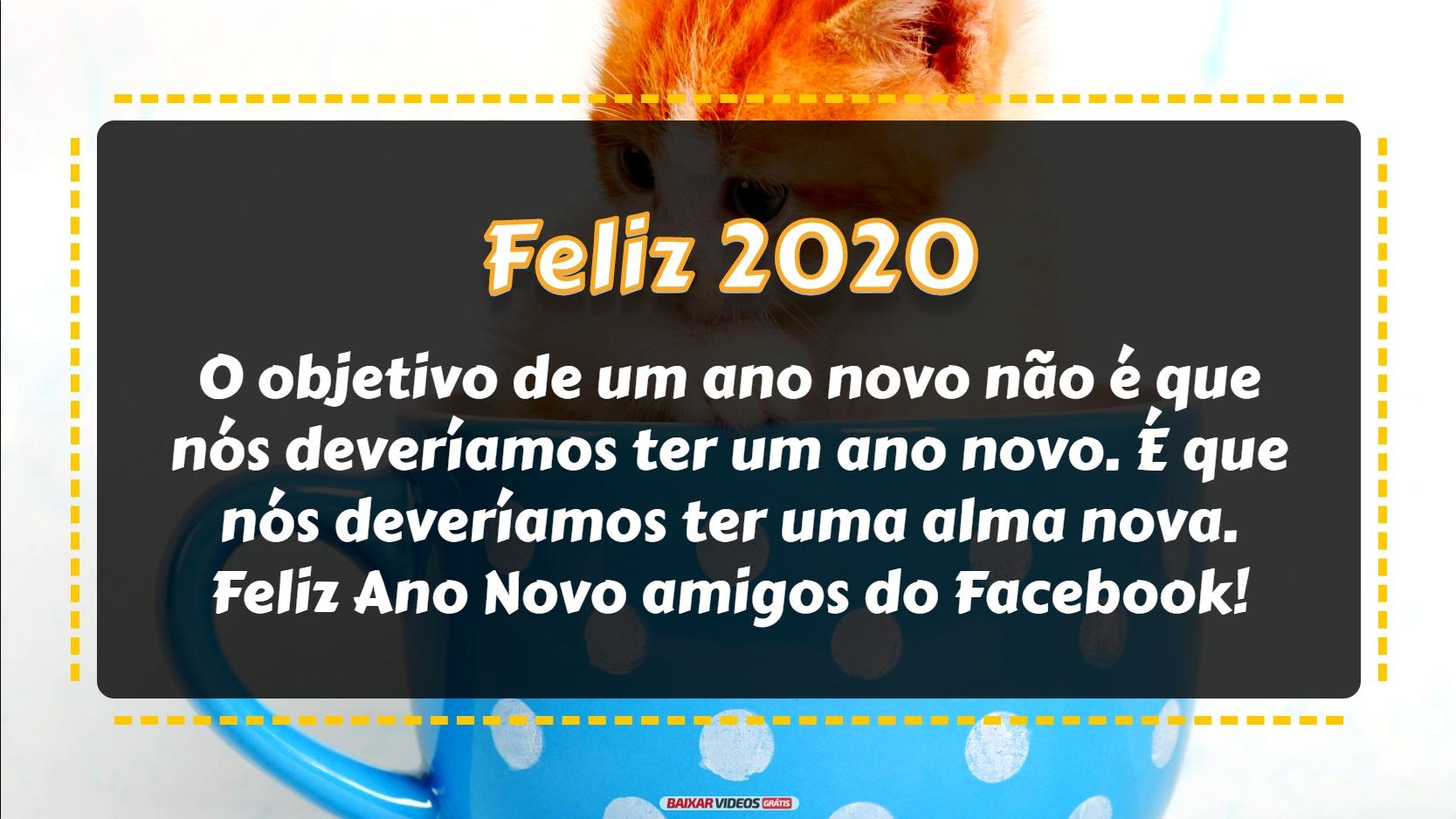 O objetivo de um ano novo não é que nós deveríamos ter um ano novo. É que nós deveríamos ter uma alma nova. Feliz Ano Novo amigos do Facebook!