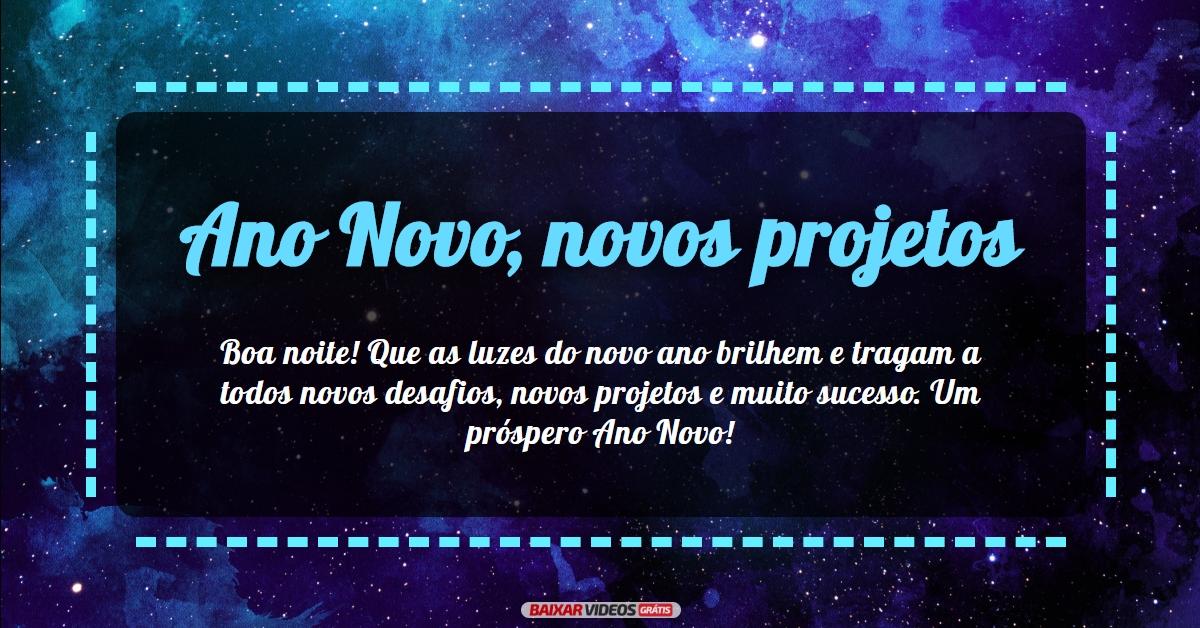 Ano Novo, novos projetos