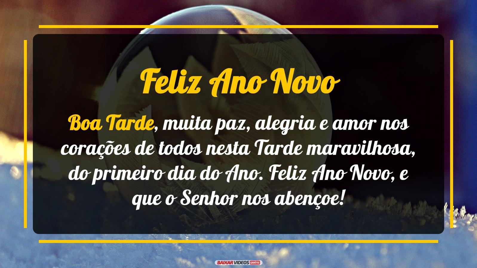 Boa tarde, muita paz, alegria e amor nos corações de todos nesta Tarde maravilhosa, do primeiro dia do Ano. Feliz Ano Novo, e que o Senhor nos abençoe!