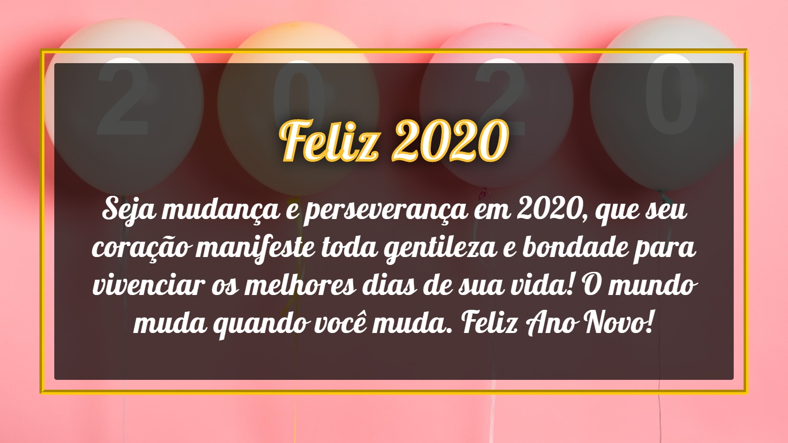 Seja A Mudança Em 2020 2020