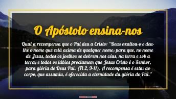 O Apóstolo Ensina-Nos