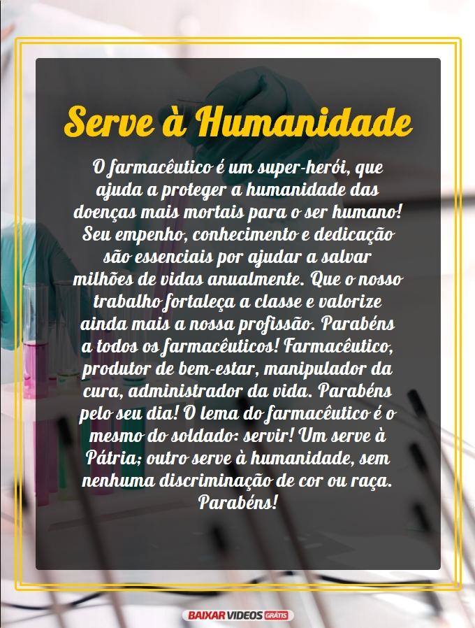 Serve à humanidade