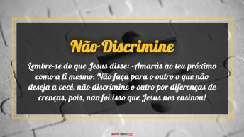 Não Discrimine Por Diferenças De Crenças