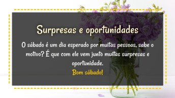 Surpresas E Oportunidades