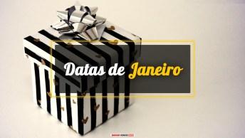 Datas do Mês de Janeiro