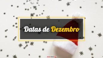 Datas do Mês de Dezembro