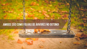 Mensagem De Amizade, Amigos São Como Folhas De Árvores No Outono!