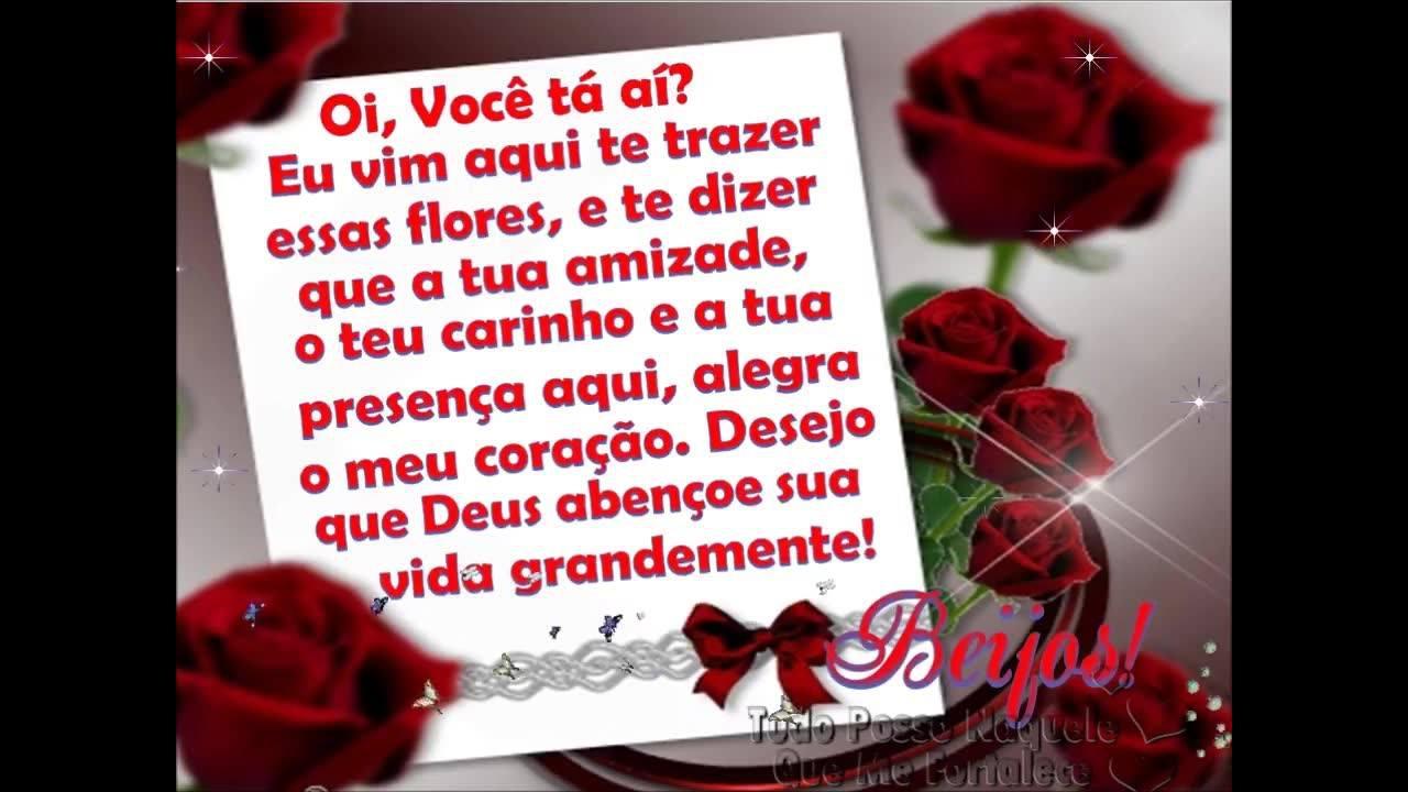 Mensagem de amizade com flores e oração