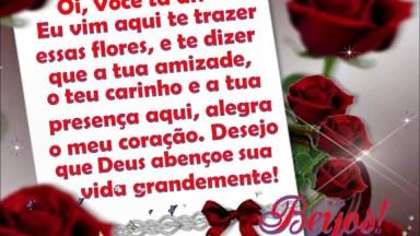 Mensagem De Amizade Com Flores E Oração, Mande Para Seus Amigos!