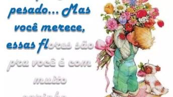 Mensagem De Amizade Para Amiga! Receba Essas Flores Com Todo Carinho!