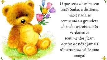 Mensagem Para Amiga Com Ursinho, Compartilhe No Facebook Com Ela!