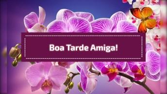 Vídeo Com Flores E Mensagem De Carinho Para Desejar Boa Tarde Para Amiga!