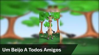 Vídeo Com Girafa Mandando Beijos Para Você Enviar Aos Amigos Do Whatsapp!