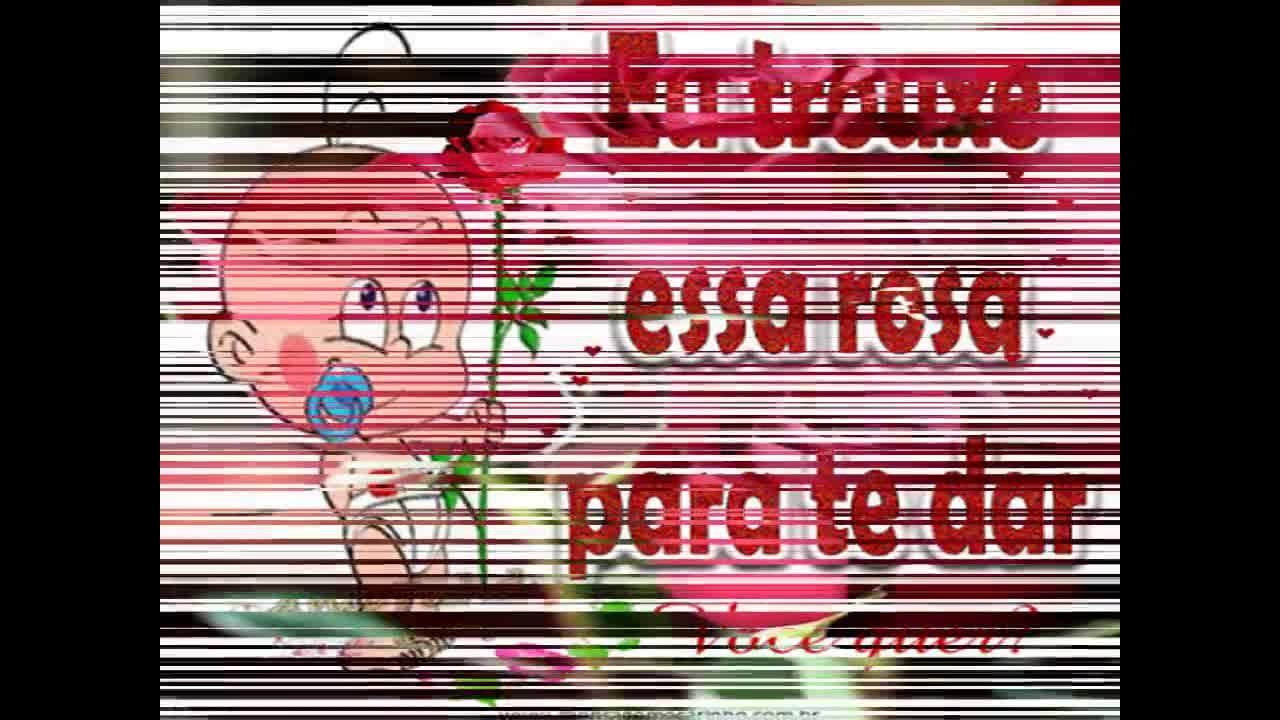 Vídeo com uma rosa para alguém especial