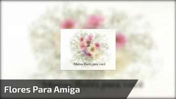 Vídeo Para Amiga Com Muitas Rosas E Flores E Mensagem De Carinho!