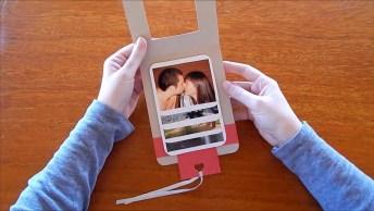 Cartão Álbum Em Cascata Para O Dia Dos Namorados, Uma Ideia Muito Legal!