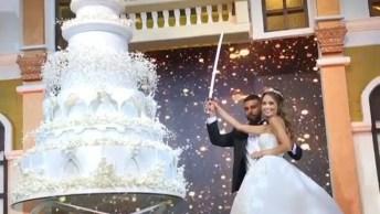 Cerimônia De Casamento Diferente, Que Noivos Lindo, Confira!